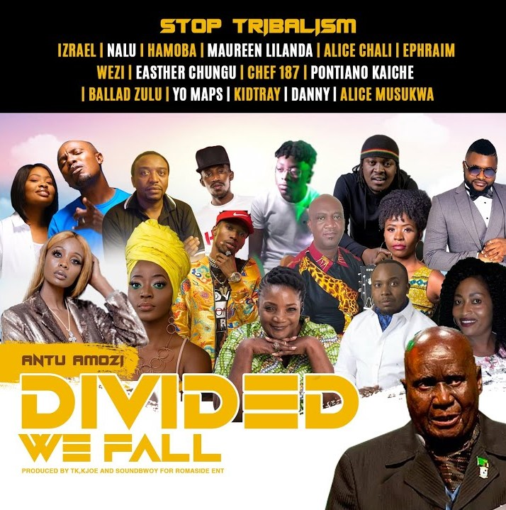 """DOWNLOAD Izrael, Yo Maps, Chef 187, Esther Chungu ft. V/A - """"Divided We Fall"""" #StopTribalism Video"""